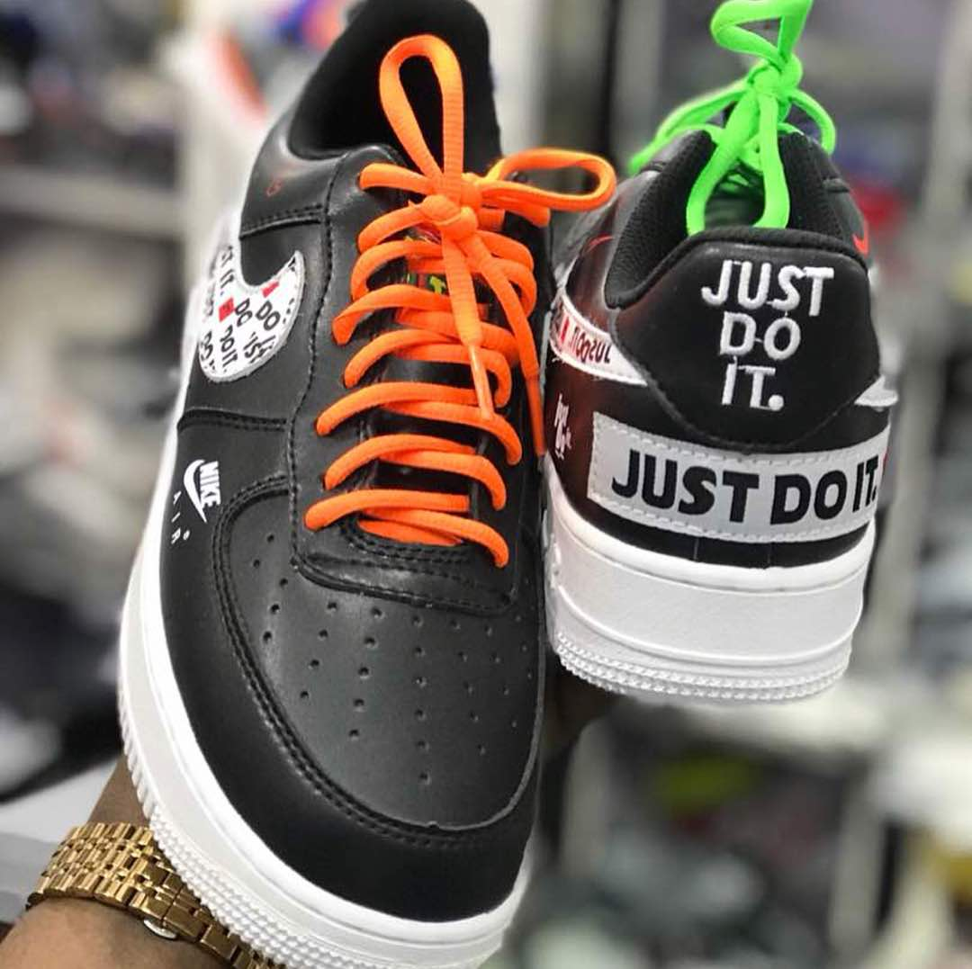 Air Force 1 Low Just Do It Pack Black